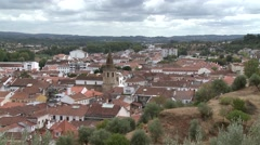 Old City Tomar With Templar Castle and Convent of Christ Portugal Stock Footage
