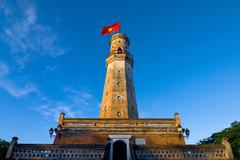 The flagpole in Vietnam Stock Photos