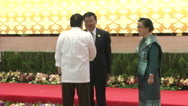 Rodrigo Duterte and Laos PM Stock Footage