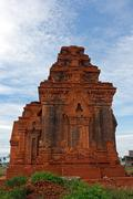 Cham Tower - one of the ancient architecture in Vietnam Stock Photos