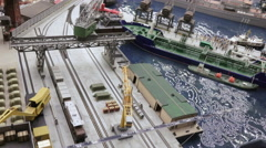 Dock crane at sea port Stock Footage