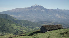 Indigenous Farm Pan from Mountains in Ecuador near Otavalo Stock Footage