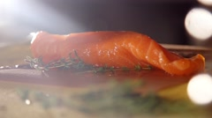 Fresh trout fish in slow motion Stock Footage