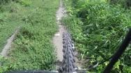 Off road bike ride Stock Footage