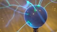 Closeup view of plasma ball Stock Footage