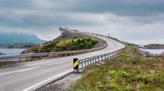 Timelapse Atlantic Ocean Road Stock Footage