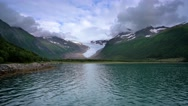 Svartisen Glacier in Norway Stock Footage