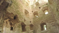 The interior of old tower ancient fortress Stock Footage