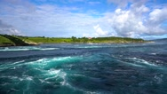 Whirlpools of the maelstrom of Saltstraumen, Nordland, Norway Stock Footage