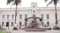 Otavalo Government Building Ecuador Stock Footage