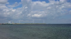 Windmills for electric power production Stock Footage