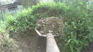 Shovel and gravel pov footage Stock Footage