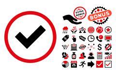 Accept Flat Vector Icon with Bonus Stock Illustration