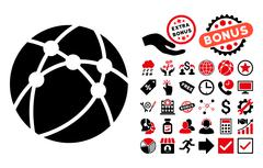 Browser Flat Vector Icon with Bonus Stock Illustration