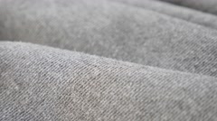 Sweating shirt or pants for training  fine fabric texture close-up 4K 2160p Stock Footage