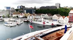 NORWAY STAVANGER HARBOUR Stock Footage