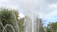 Top fountain water against blue sky Stock Footage