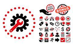 Customization Flat Vector Icon with Bonus Stock Illustration