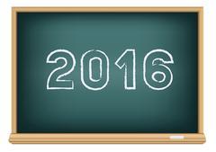 Blackboard education 2016 Stock Illustration