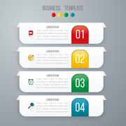 Vector illustration infographics four options Stock Illustration