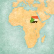 Map of Africa - Sudan Stock Illustration