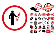 Drug Dealer Flat Vector Icon with Bonus Stock Illustration