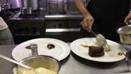 Interior of Restaurant Kitchen Stock Footage