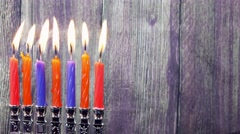 Hanukkah Candles, Jewish Holidays Stock Footage