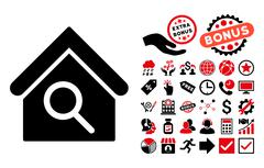 Find Building Flat Vector Icon with Bonus Stock Illustration