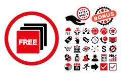 Free Flat Vector Icon with Bonus Stock Illustration