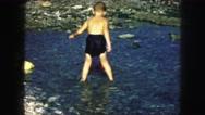 1958: a beach scene is seen AMES, IOWA Stock Footage
