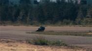 Motorcycle racing HD static video. Moto riders in turn on circuit road track Stock Footage