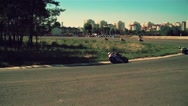 Motorcycle racing HD slow motion video. Moto riders turn Extreme sport concept Stock Footage