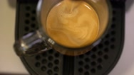 From the above shot of automatic coffee machine. Espresso coffee. Stock Footage