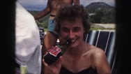 1958: enjoying a cold one while hanging out with my friends AMES, IOWA Stock Footage