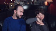 4k Authentic Shot of a Boy Having Fun with His Dad Stock Footage