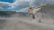 Huge mining truck Stock Footage