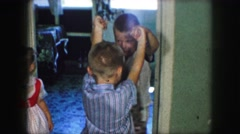 1958: enjoying a nice game of ring a round the rosey AMES, IOWA Stock Footage