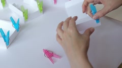 Paper box gluing Stock Footage