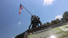 Marine Corps Memorial Stock Footage