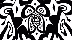 Gobo Mask Monochrome Smooth Pattern Stock Footage