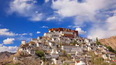 4K Timelapse Thiksey Monastery, Leh Ladakh, Jammu and Kashmir, India Stock Footage