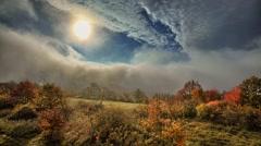 Beautiful autumn timelapse Stock Footage
