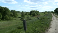 Landscape of countryside in summer Stock Footage