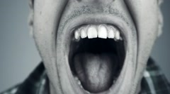 Close up of screaming man Arkistovideo