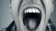 Close up of screaming man Stock Footage