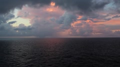 Dark Ocean Waves With a Pastel Sky Stock Footage