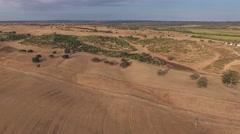 Agriculture farm plainsaerial shot 4k Stock Footage