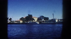 1962: a water area is seen SAN PEDRO, CALIFORNIA Stock Footage