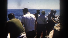 1962: a group of people in a motor driven boat SAN PEDRO, CALIFORNIA Stock Footage